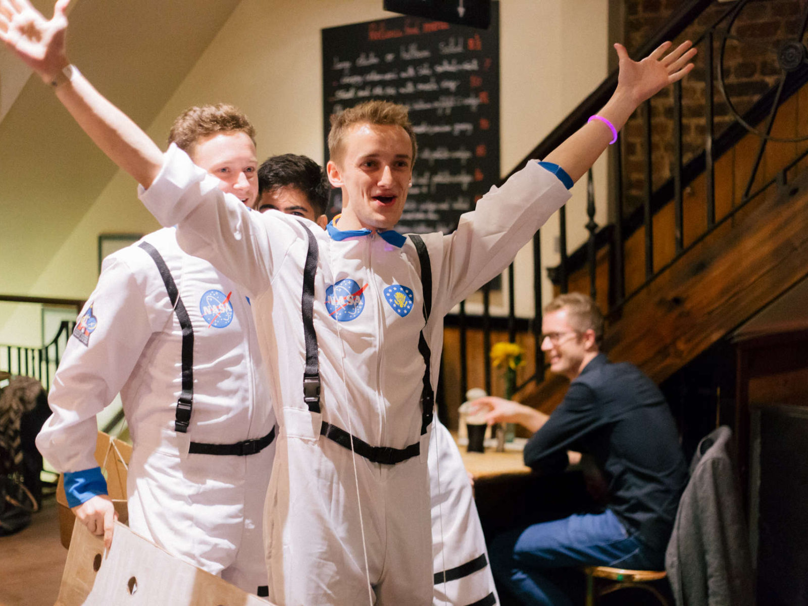Sometimes we even have astronauts at the pub…